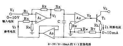 使用运放组成VI和IV转换电路的资料说明