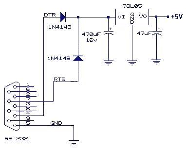 串口取电经典电路两例